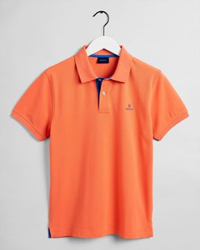 Bilde av GANT CONTRAST COLLAR PIQUE - ORANGE