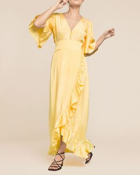 Bilde av BY TIMO DELIC WRAP GOWN - YELLOW