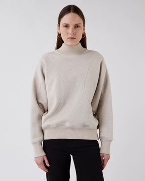 Bilde av TOM WOOD THE WIND SWEATER - BEIGE MELANG