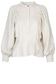 Bilde av MUNTHE SLOW BLOUSE - WHITE